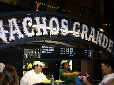 Citi Field Nachos Stand and Menu